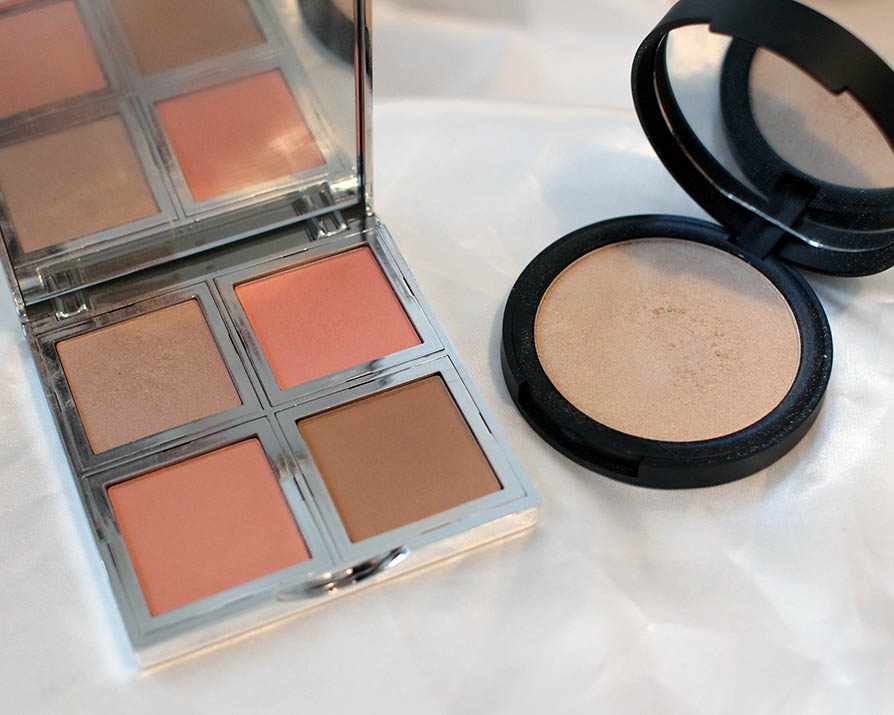 e.l.f. beautifully bare face palette ja highlighting powder
